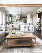 Stylish modern farmhouse kitchen makeover decor ideas 28
