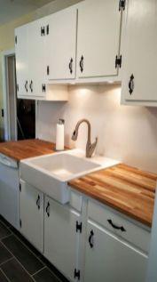 Stylish modern farmhouse kitchen makeover decor ideas 31