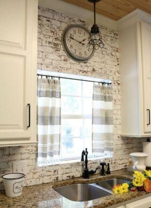 Stylish modern farmhouse kitchen makeover decor ideas 37