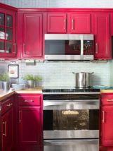 Stylish modern farmhouse kitchen makeover decor ideas 40