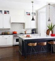 Stylish modern farmhouse kitchen makeover decor ideas 57