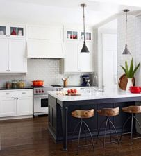 Stylish modern farmhouse kitchen makeover decor ideas 57