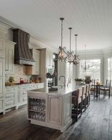 Stylish modern farmhouse kitchen makeover decor ideas 58
