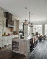 Stylish modern farmhouse kitchen makeover decor ideas 58