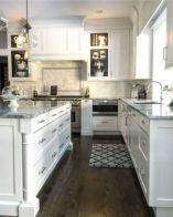 Stylish modern farmhouse kitchen makeover decor ideas 59