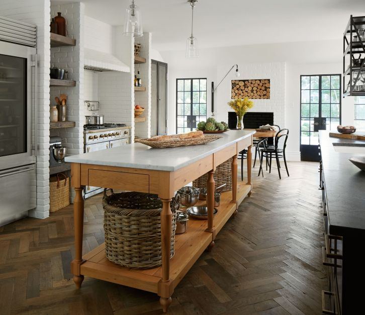 Stylish modern farmhouse kitchen makeover decor ideas 62