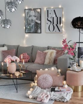 Ultimate romantic living room decor ideas 07
