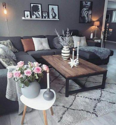 Adorable apartment living room decorating ideas 32