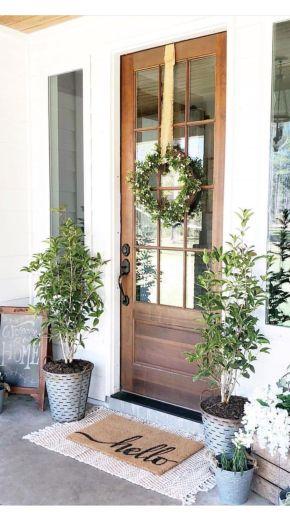 Fancy farmhouse fall porch decor and design ideas 44