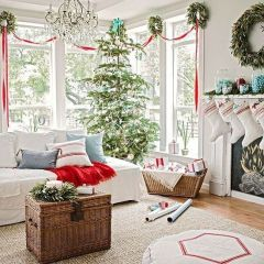 Fascinating christmas tree ideas for living room 13