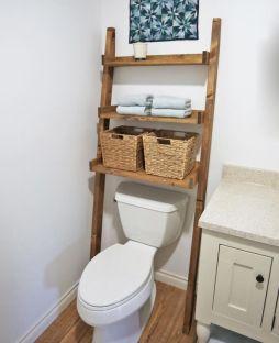 Lovely diy bathroom organisation shelves ideas 10