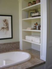 Lovely diy bathroom organisation shelves ideas 15