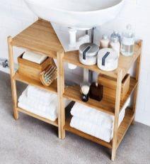 Lovely diy bathroom organisation shelves ideas 16