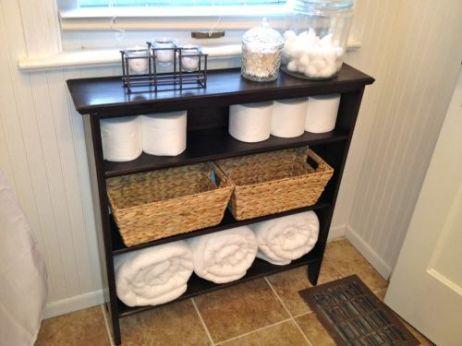 Lovely diy bathroom organisation shelves ideas 20