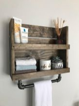 Lovely diy bathroom organisation shelves ideas 24