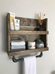 Lovely diy bathroom organisation shelves ideas 24