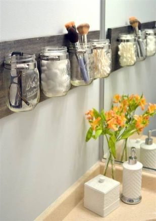 Lovely diy bathroom organisation shelves ideas 26
