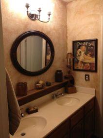 Lovely diy bathroom organisation shelves ideas 31