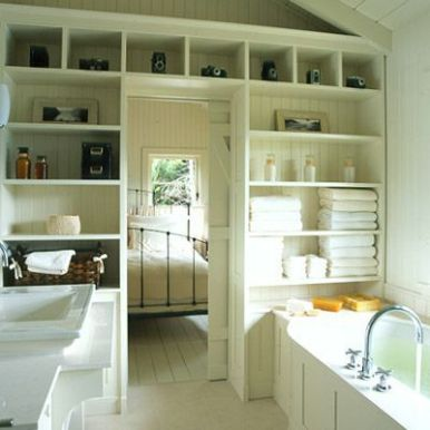 Lovely diy bathroom organisation shelves ideas 32