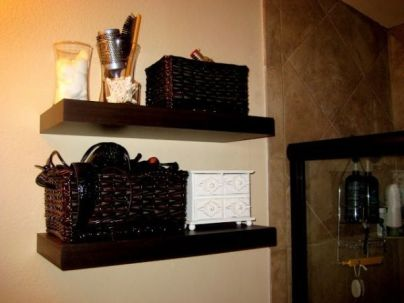 Lovely diy bathroom organisation shelves ideas 42