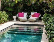 Minimalist small pool design with beautiful garden inside 02