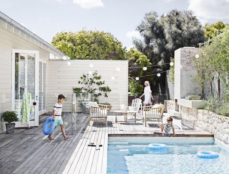 Minimalist small pool design with beautiful garden inside 05