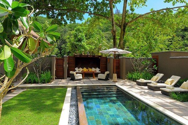 Minimalist small pool design with beautiful garden inside 07