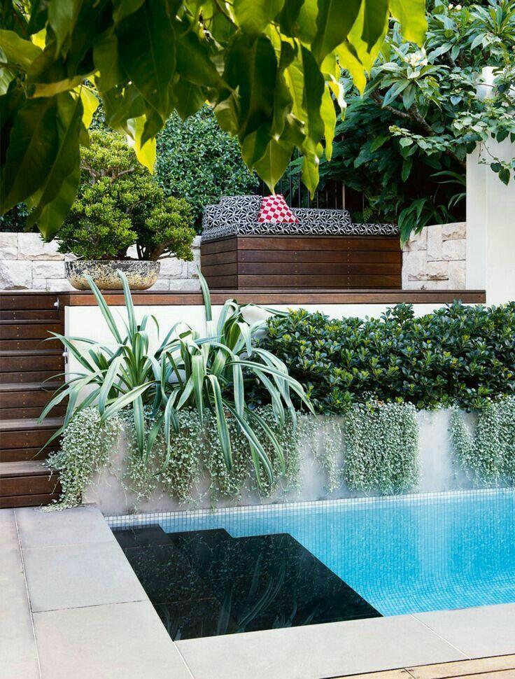 Minimalist small pool design with beautiful garden inside 15