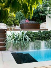 Minimalist small pool design with beautiful garden inside 15