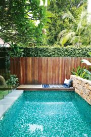 Minimalist small pool design with beautiful garden inside 20