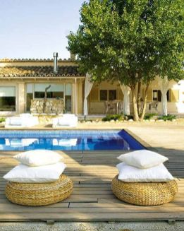 Minimalist small pool design with beautiful garden inside 21