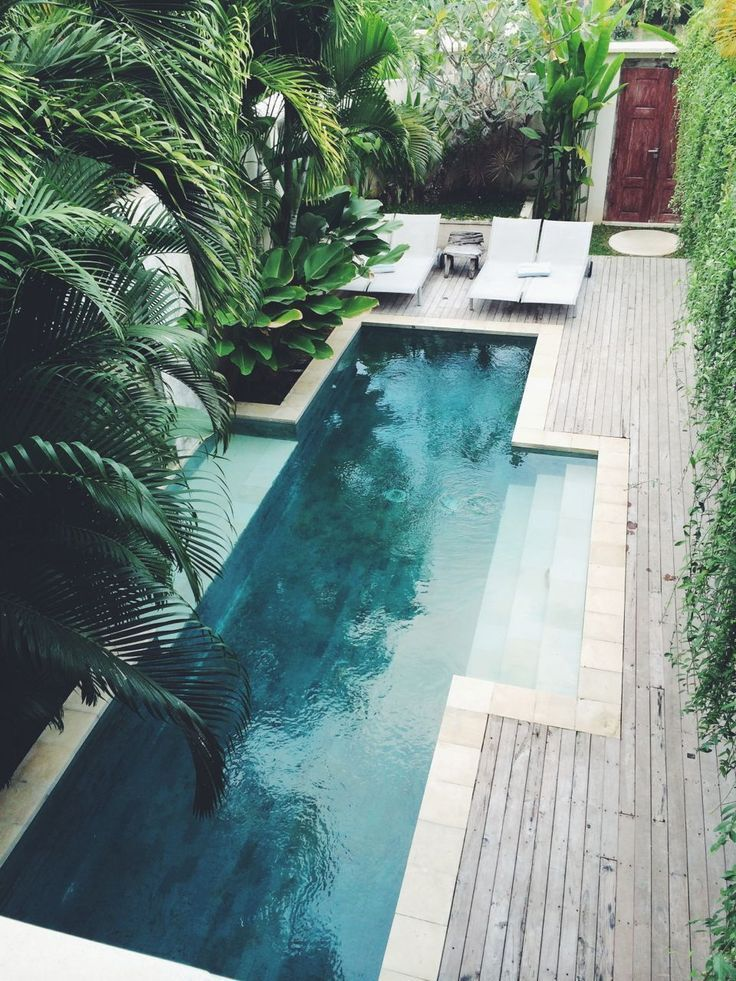 Minimalist small pool design with beautiful garden inside 24