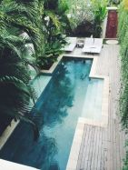Minimalist small pool design with beautiful garden inside 24