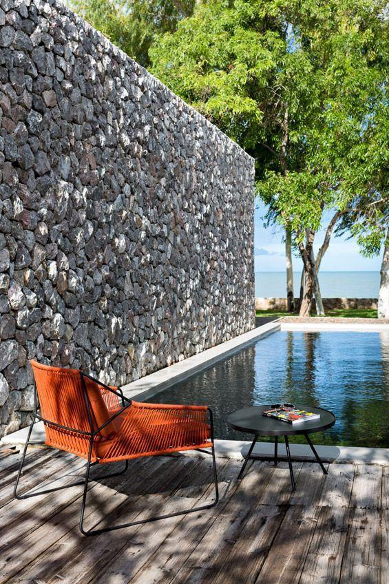 Minimalist small pool design with beautiful garden inside 25
