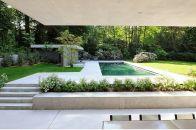 Minimalist small pool design with beautiful garden inside 30