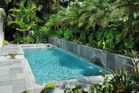 Minimalist small pool design with beautiful garden inside 35