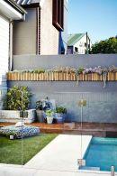 Minimalist small pool design with beautiful garden inside 38