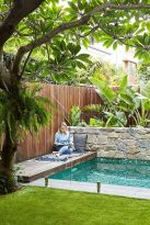 Minimalist small pool design with beautiful garden inside 46