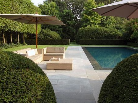 Minimalist small pool design with beautiful garden inside 47