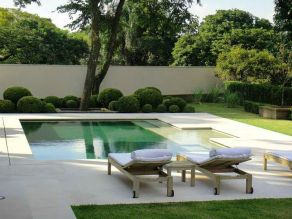 Minimalist small pool design with beautiful garden inside 50