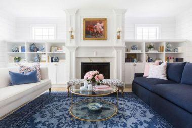 Modern white living room design ideas 11