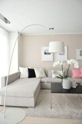 Modern white living room design ideas 13