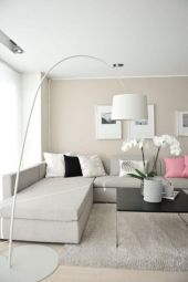 Modern white living room design ideas 13