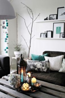 Modern white living room design ideas 21
