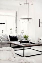Modern white living room design ideas 22
