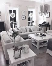 Modern white living room design ideas 24