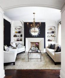Modern white living room design ideas 30
