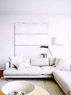 Modern white living room design ideas 33