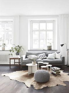 Modern white living room design ideas 34