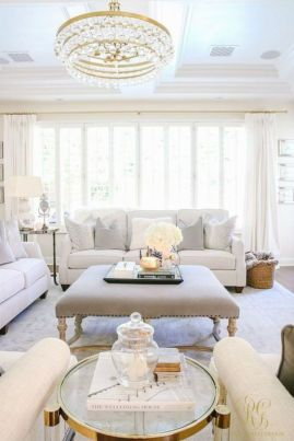 Modern white living room design ideas 47